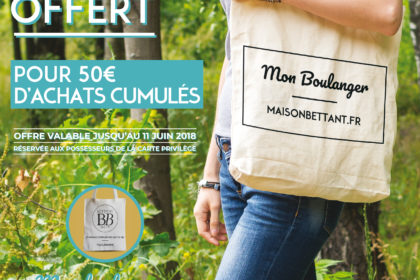 Tote Bag : Offre Carte Privilège!ge Bettant
