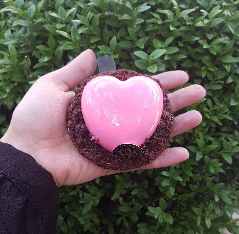 Brownie chocolat pécan en forme de coeur, pour la fêtes des mères