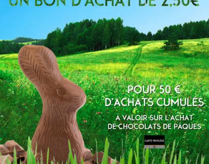 affiche de l'opération Pâques de la Carte Privilège Bettant