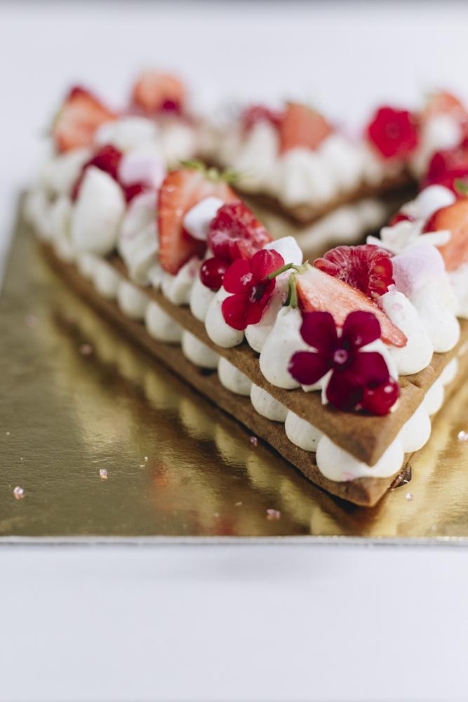 Letter Cake : Coeur