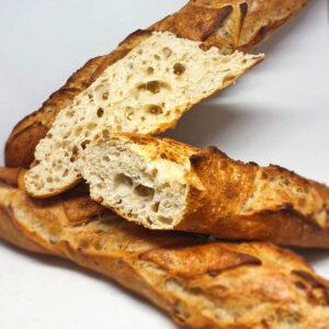 Baguette aux germes de blé, vue de la tranche