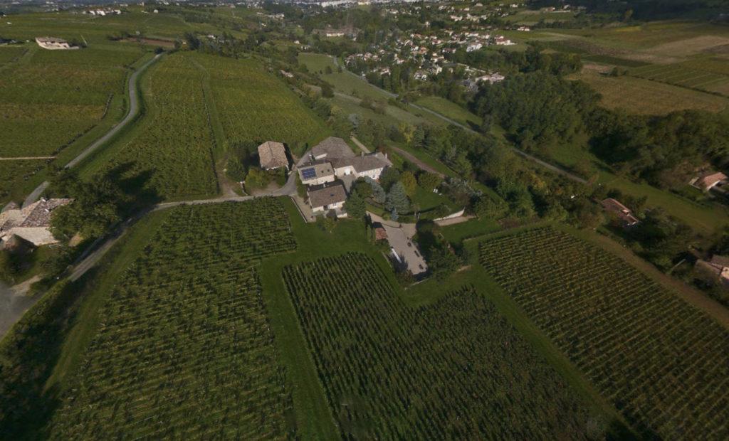 Vue aérienne du Domaine Albert